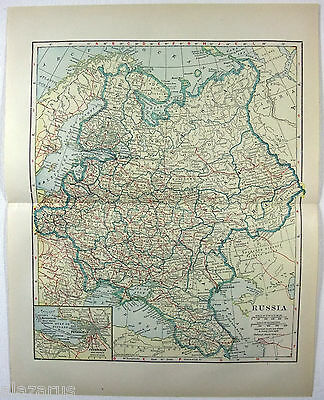 Original 1914 Map of Czarist Russia
