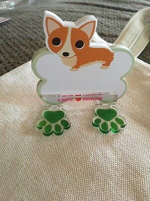 Pembroke Welsh Corgi Dog Notepad With Stand, New So Cute!!