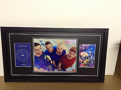 Coldplay Hand Signed/Autographed  Photo & COA