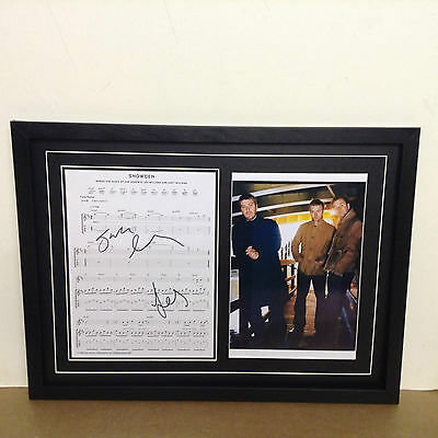 Doves Genuine Hand Signed/Autographed Songsheet with a Photograph with COA