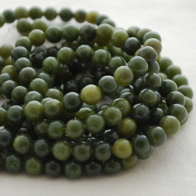 Grade A Natural Nephrite Jade (green) Gemstone Round Beads - 4mm 6mm 8mm 10mm