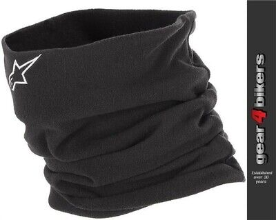 Alpinestars Neck Warmer Black Motorcycle Neckwarmer Micro Fleece Warm Bike Cycle