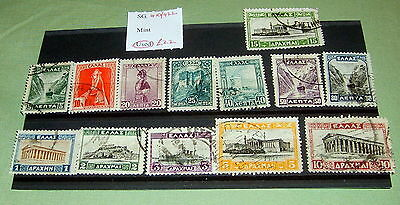Greece Stamps, Sg 410-422, Fine Used, Stated To Catalogue £22.