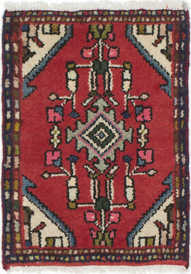 """Hand-knotted Persian Carpet 1'4"""" x 1'9"""" Persian Wool Rug...DISCOUNTED!"""