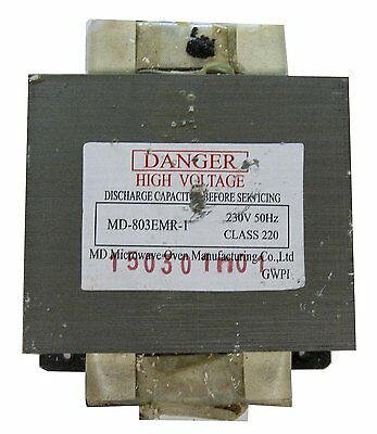 Microwave Oven - Transformer Replacement Part Md-803Emr-1