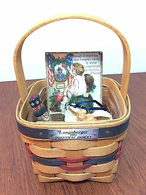 1993 Longaberger Inaugural Basket With Protector