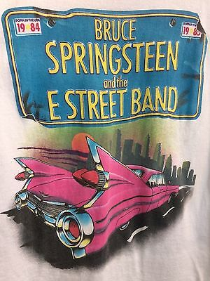 Vintage White 1984 Bruce Springsteen Born In The Usa Tour 84-85 Tshirt Size M