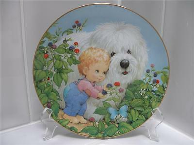 Danbury Mint Old English Sheepdog Dog Plate MINT