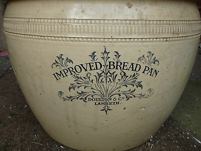 "Vintage Doulton Lambeth 'improved Bread Pan' 15""dia. Victorian"