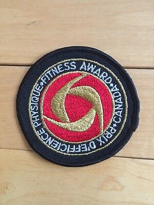 "New Vintage Canada Physical Fitness Award Sew On Patch 3"" Canadian Sports"