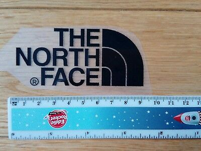 2 x  THE NORTH FACE Logo Iron on Transfer patch. Black