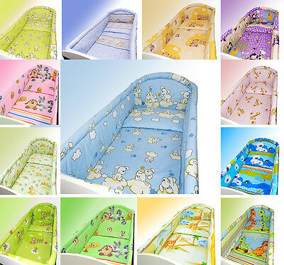 BUMPER ALL ROUND FOR COT or COT BED NURSERY BEDDING SET _ CLEARANCE STOCK