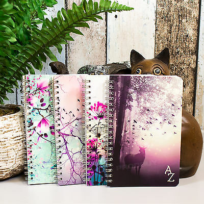 Spiral A6+ 100 Page A-Z Tabbed Index Address Book Floral Paper Notebook Pad