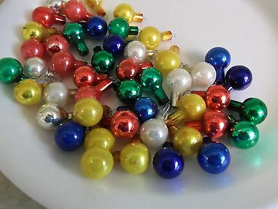 46 VTG MERCURY GLASS feather tree~ CHRISTMAS TREE ORNAMENTS~bright colors~