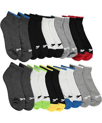 "Slazeneger Boys' ""Sport Line"" 10-Pack Quarter Crew Socks (Sizes 6 - 11)"