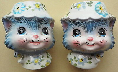 LEFTON CATS china MISS PRISS SALT & PEPPER SHAKER-JAPAN-TOP CONDITION-NICE!