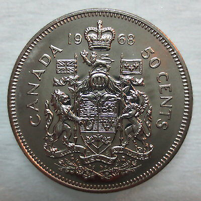1968 Canada 50 Cents Proof-Like Coin