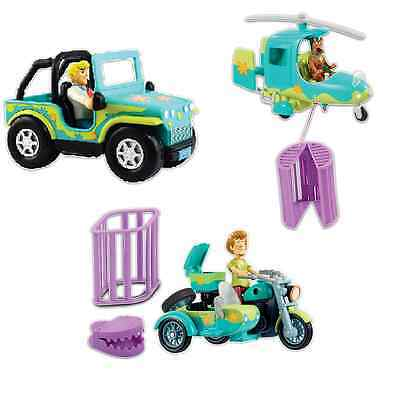 Scooby-Doo 3-Pack Vehicle Bundle: 4x4 Monster Catcher, Copter + Bike & Sidecar