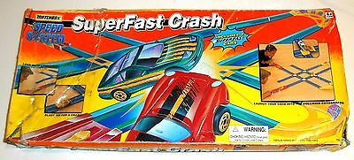 Vintage 1996 Matchbox / Tyco ~ SUPERFAST CRASH SPEED SYSTEM ~ Race Track Boxed