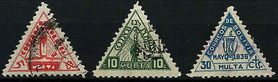 Bolivia 1938 SG#D346-D348 Postage Dues Used Set #D45956