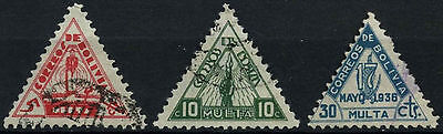 Bolivia 1938 SG#D346-D348 Postage Dues Used Set #D45963