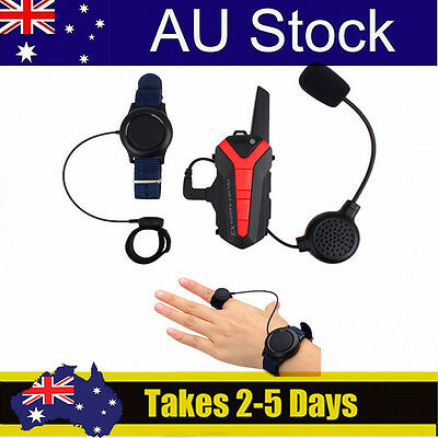 New Motorcycle Helmet Bluetooth Walkie Talkie 2 Way Radio UHF 400-470MHZ PTT