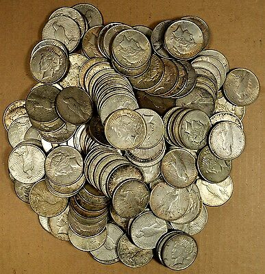 20 Mixed VG - AU Peace Silver Dollars - No Culls - Free Priority Mail Shipping