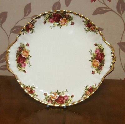 Royal Albert Old Country Rose Cake/Sandwich Plate     (pt1)