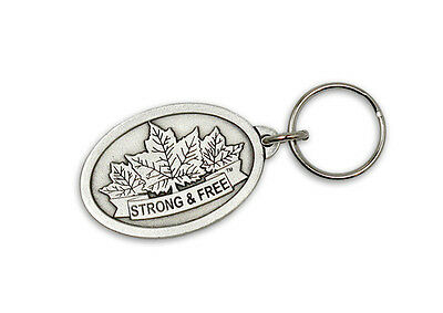 Canada Strong and Free Canada Pewter Key Chain