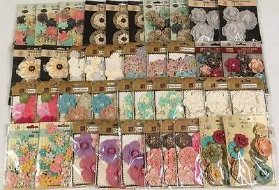 Prima * HUGE LOT MULBERRY PAPER & FABRIC FLOWERS * WHOLESALE #20 * Scrapbooking