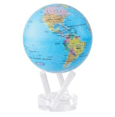 "MOVA Globe- Earth - Blue Ocean political map 15cm/ 6"" - self rotating sphere"