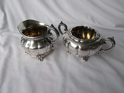 Rogers 1881 Silverplate Cream & Sugar Bowls
