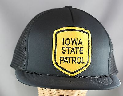 Obsolete US State Of Iowa Police Patrol Snapback Cap With Patch