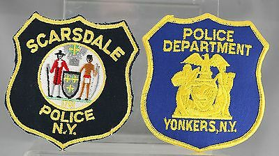 Obsolete New York State Scarsdale & Yonkers Police Shoulder Patches