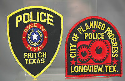 Obsolete Texas Fritch & Longview Police Shoulder Patches