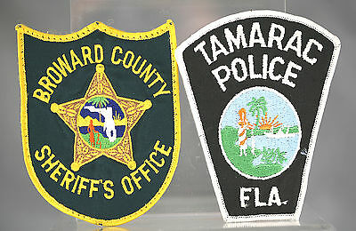 Obsolete Florida Tamarac & Broward County Police Shoulder Patches