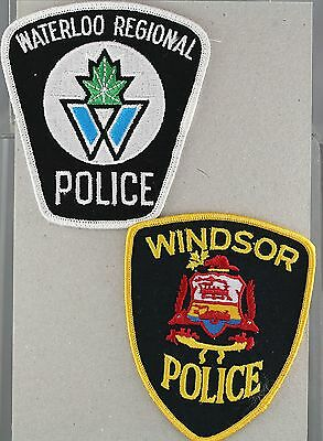 Obsolete Canadian Windsor & Waterloo Regional Police Shoulder Patches