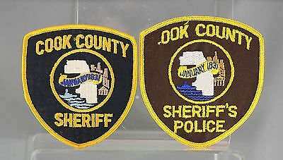 A Pair of Obsolete Illinois Cook County Sheriff's Shoulder Patch One Faulty