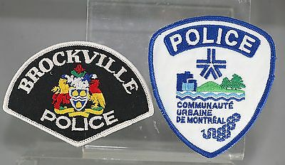 Obsolete Canada Brockville Police & Montreal Urban Police Shoulder Patches