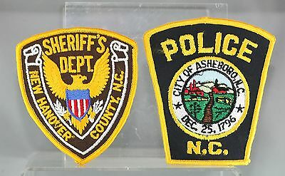 Obsolete North Carolina New Hanover County & Asheboro Police Shoulder Patches