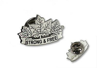 Canada Strong and Free Canada Pewter Lapel Pin