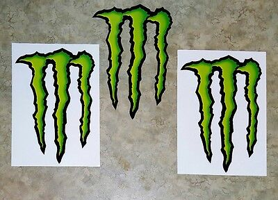 """Monster Energy Drink DECAL STICKER 5"""" x 3.75"""" lot of 2, Buy more Save more!"""