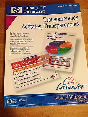 HP Color LaserJet Transparency Film Sheets-50 Count 8.5 x 11 Inch-Sealed