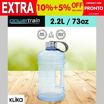 New 2.2L Jumbo Enviro Drink Water Bottle Shaker BPA Free Workout Gym Running LBU