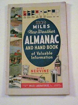 1941 Dr. Miles New Weather Almanac and Hand Book of Valuable Information