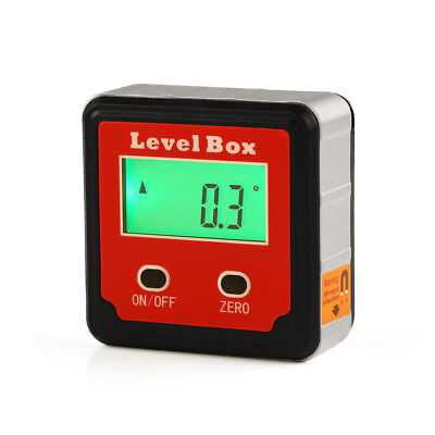 Red Digital Inclinometer Bevel Box Angle Protractor Gauge Spirit Level