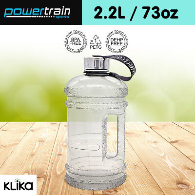 2.2L Jumbo Enviro Drink Water Bottle Shaker BPA Free Workout Gym Running Grey
