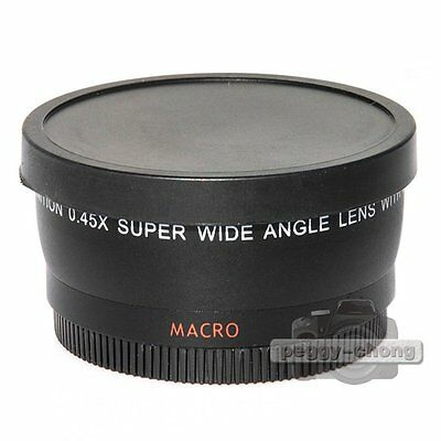 43mm Digital High Definition 0.45X Super Wide Angle Lens & Macro for Canon Nikon