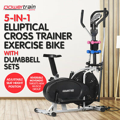 6 in 1 Elliptical Cross Trainer Exercise Bike Machine Home Gym Bicycle Equipment