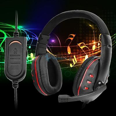 Universal 3.5mm Wired Pro Gaming Headset Headphone w/ MIC For PS4 AU